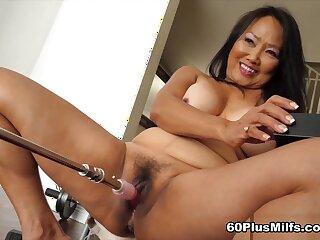 Mandy And The Fuck Machine - Mandy Thai - 60PlusMilfs